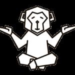 Logo Mahnix Affe 2-farbig transparent