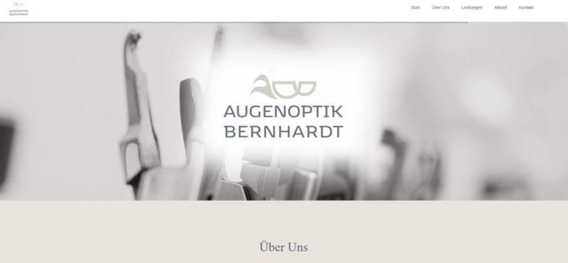 Mahnix Webdesign Referenz - Augenoptik Bernhardt