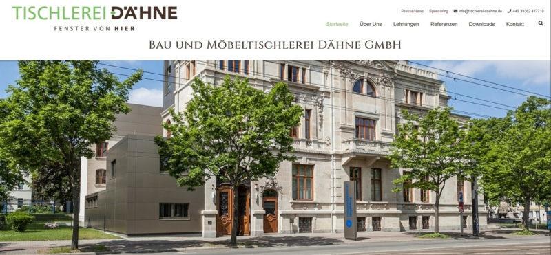 Mahnix Webdesign Referenz - Bau-und Möbeltischlerei Dähne GmbH