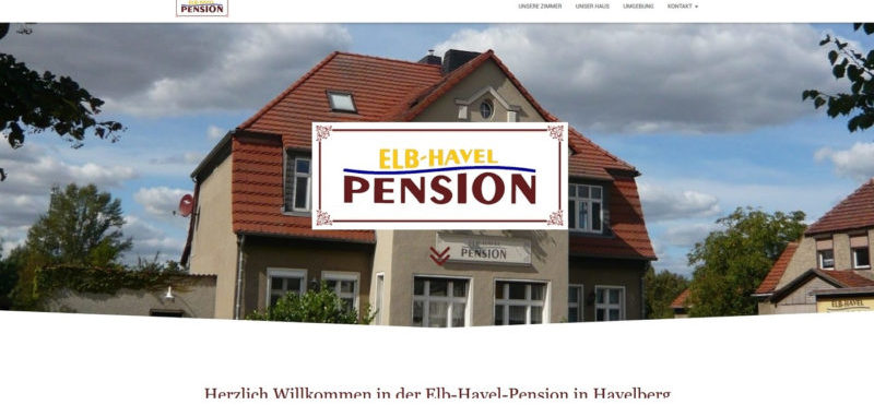 Mahnix Webdesign Referenz - Elb-Havel-Pension
