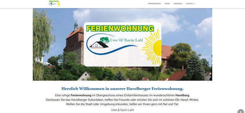 Mahnix Webdesign Referenz - Ferienwohnung Lahl